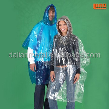 Transparent raincoats for woman Disposable Plastic pvc fashion rainwear