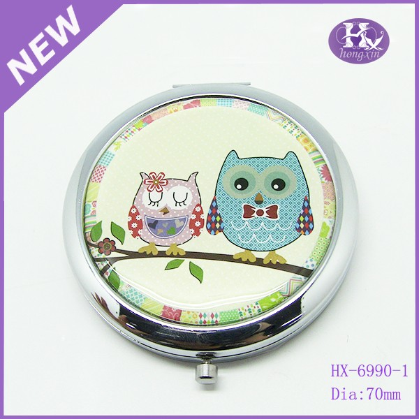HX-6990 Custom elegant wholesale metal cheap compact mirrors