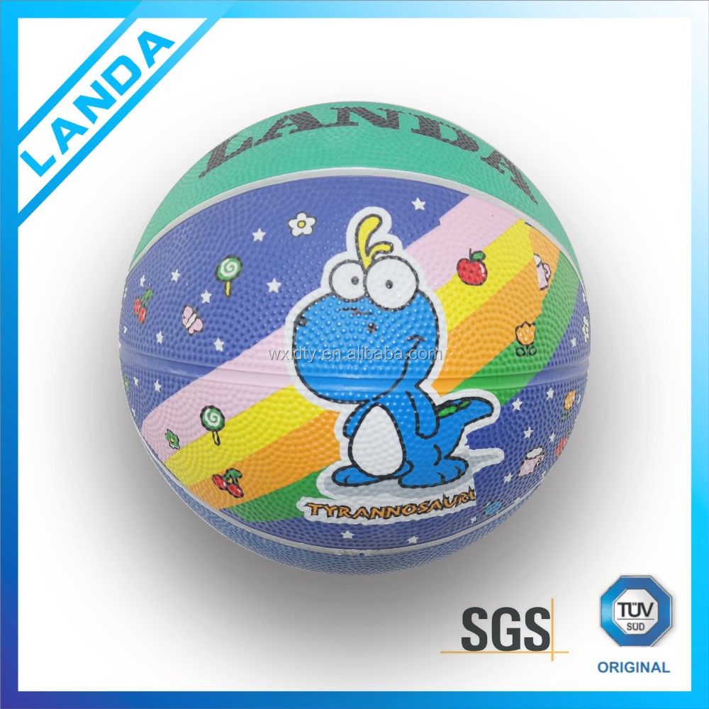gift cartoon rubber basketball ball