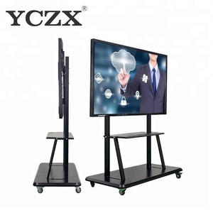 China top supplier FHD LED Interactive Touch Screen Monitor LCD Smart Board TV With PC