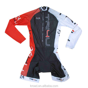 hot selling long sleeve skin suit one piece cycling