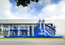 giant castle inflatable slide obstacle course for adult