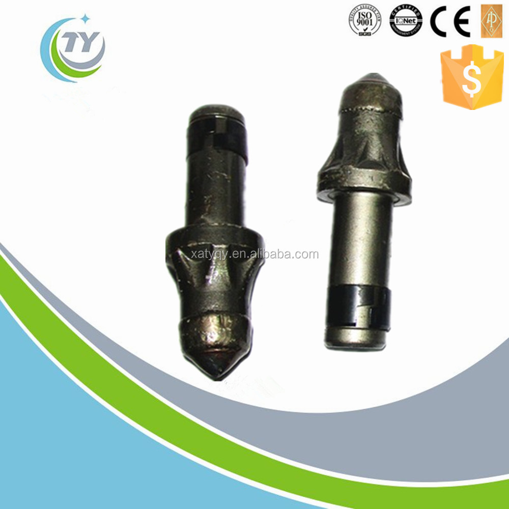 Tungsten carbide material pick teeth for foundation drilling bit
