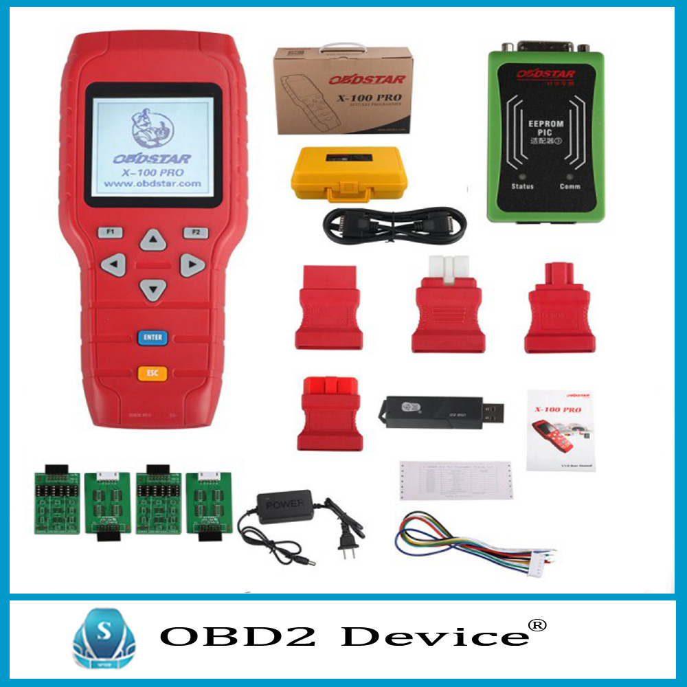 Top Quality OBDSTAR X100 PRO Auto Key Programmer X-100 Pro C+D+E Type Support IMMO+Odometer+OBD Software Fast Shipping