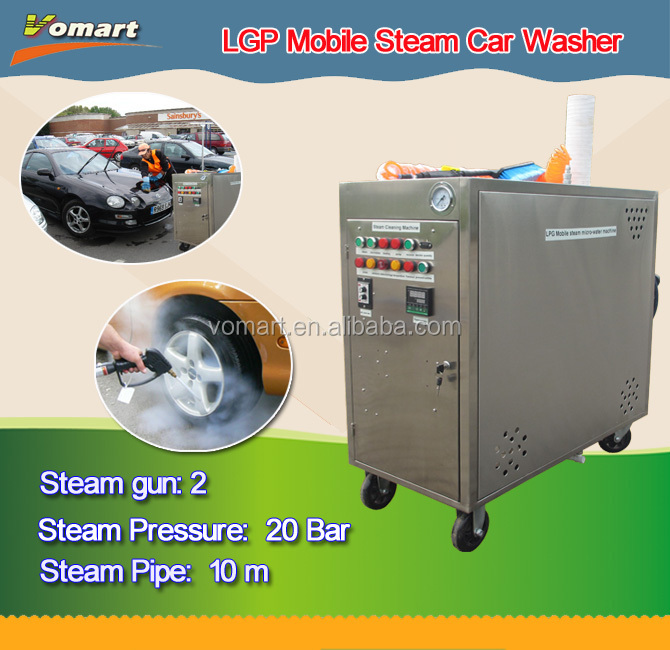 20 bar LPG portable mobile steam car wash machine/steam mattress cleaning