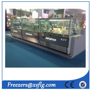ice cream showcase / gelato display case / ice cream display freezer price (CE approvaled)