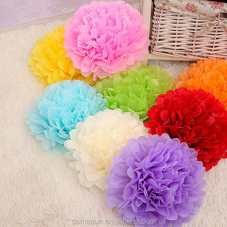Purple Hanging Tissue Paper Flower Ball For Party Supplies - Buy ...