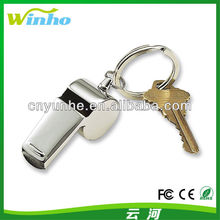 Metal stainless Steel Coach Whistle Key Ring