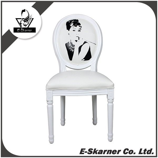 E-Skarner Hebburn photo design pure white dining chair