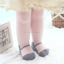 wholesale winter fashion design cute jacquard tube pantyhose tights for baby and kids