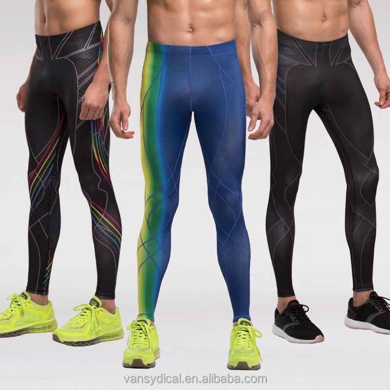 Wholesale Men's Compression Tights Sports Leggings GYM Workout Basketball Trousers Running Jogging Skinny Pants