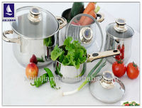 8Pcs desigher stainless steel cookware