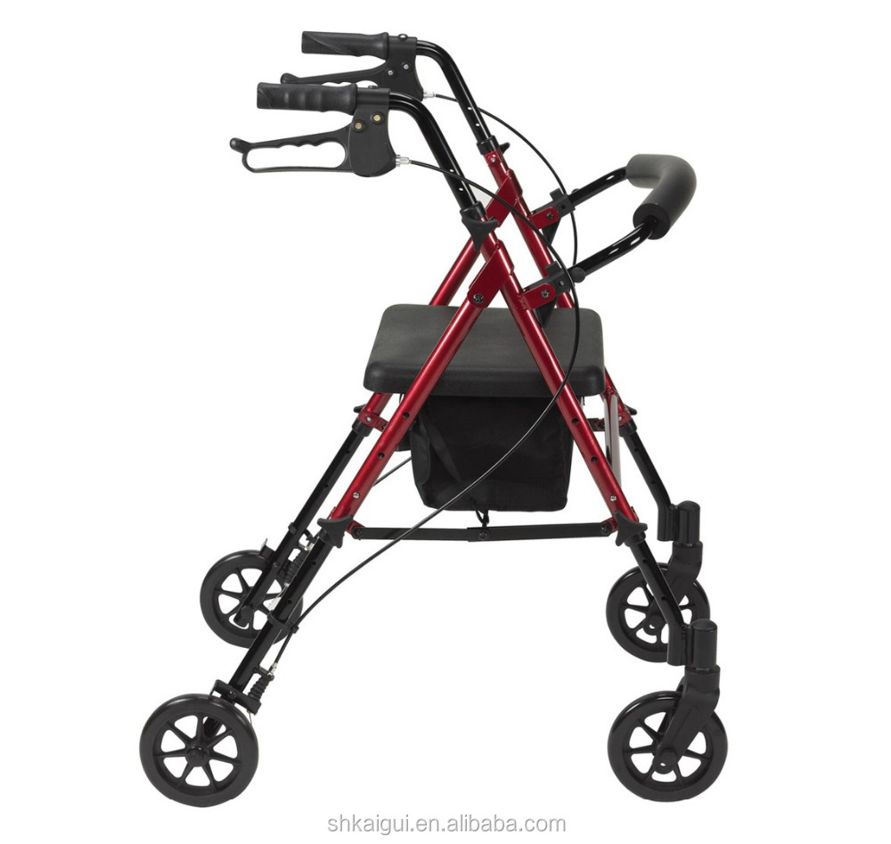 Ajustable height and hot selling rollator walker with cheap price