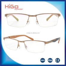 New spectacles design stainless steel optical frames certificate frames italian eyeglasses