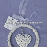 Wicker Wreath Decoration With Heart
