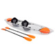 2 person pedal fishing clear plastic canoe transparent kayak