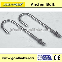 J type anchor bolt with nut galvanized grade 4.8