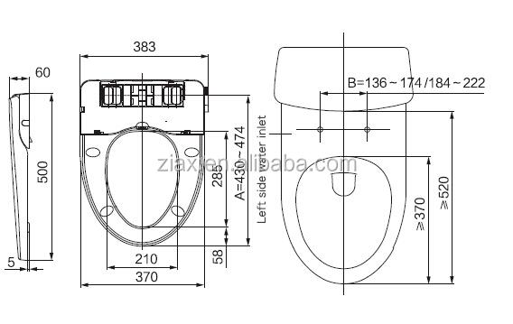 wc sitz mit integriertem bidet dusch wc fur intimpflege toilettensitz taharet buy integriertem. Black Bedroom Furniture Sets. Home Design Ideas