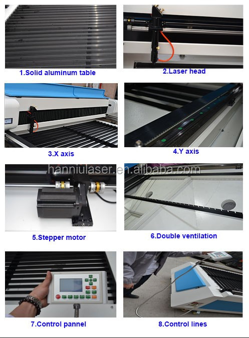 large format 150W CO2 Acrylic Laser Cutting Machine Price for advertising industry 1325
