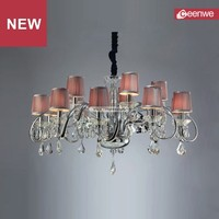 European style Modern LED metal chrome european chandeliers made in China
