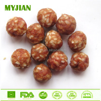 pork & rice ball chip natrual pet treat dog food free additives pork meat dog training treat dog snack