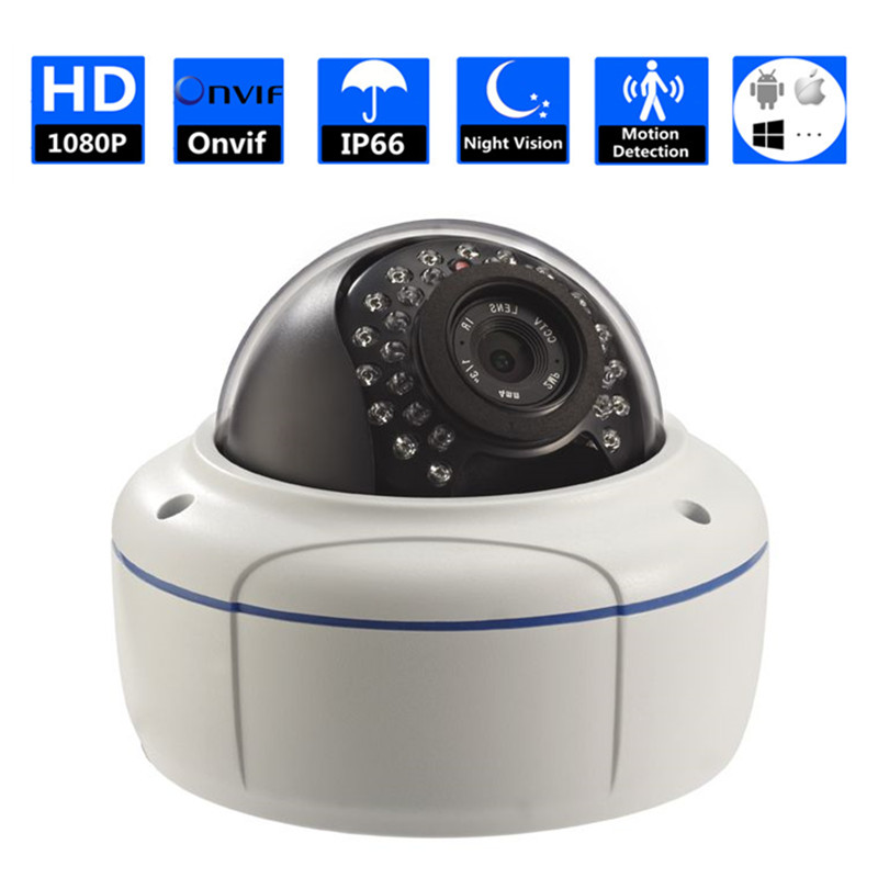 30pcs IR night view Onvif indoor Camera Work For The Office, Supermarket, Home, Hotel Vandal-proof shockproof cctv camera dome