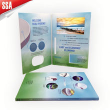 2012 modern design 4.3 inch customized video greeting card