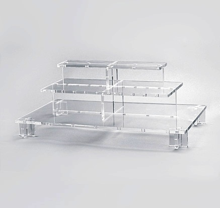 Acrylic buffet display pmma tier buffet rack /Plastic Cupcake Display Stand