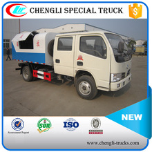 DONGFENG 4x2 80hp 3tons mini Double Row Cab Sealed Refuse Collecting Truck Garbage Transportation Truck