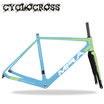 Miracle bicycle parts,700*40c carbon cyclocross bicycle frame,high quality 142*12mm CX bike frame