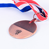 Competition custom award metal running sports medal with ribbon