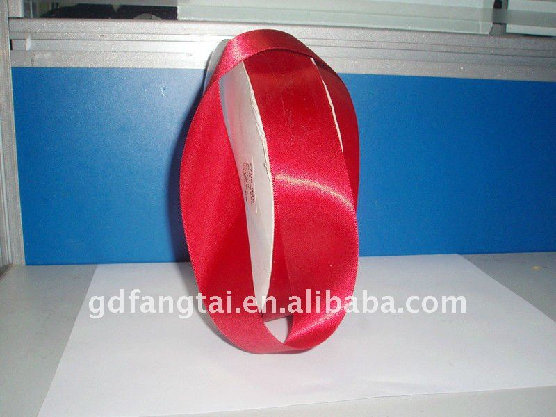 red satin ribbon rose fabric