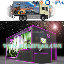 5D cinema 7d cinema system truck mobile 9d cinema with electric, pneumatic, hydraulic system