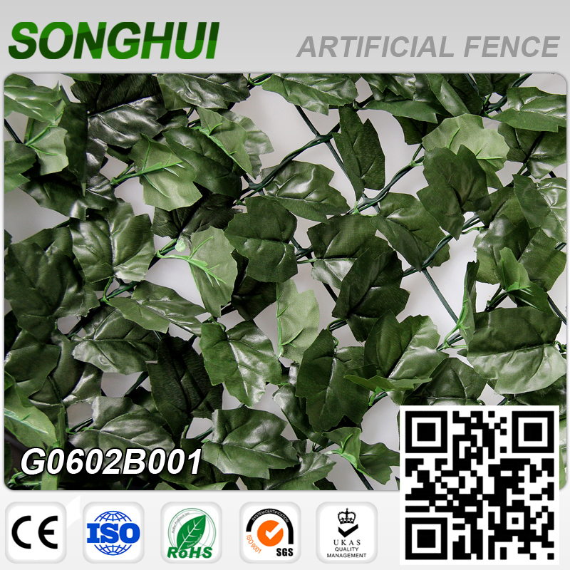 SGS certificated friendly plastic artificial boxwood hedge panel