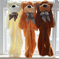Factory wholsale unstuffed giant teddy bear skins popular birthday gift soft 300cm teddy bear plush toy