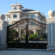 China manufacture cheap wrought iron pipe gates designs for villa home