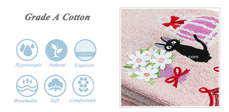 100% cotton embroidery compressed disposable facial towel and tablet