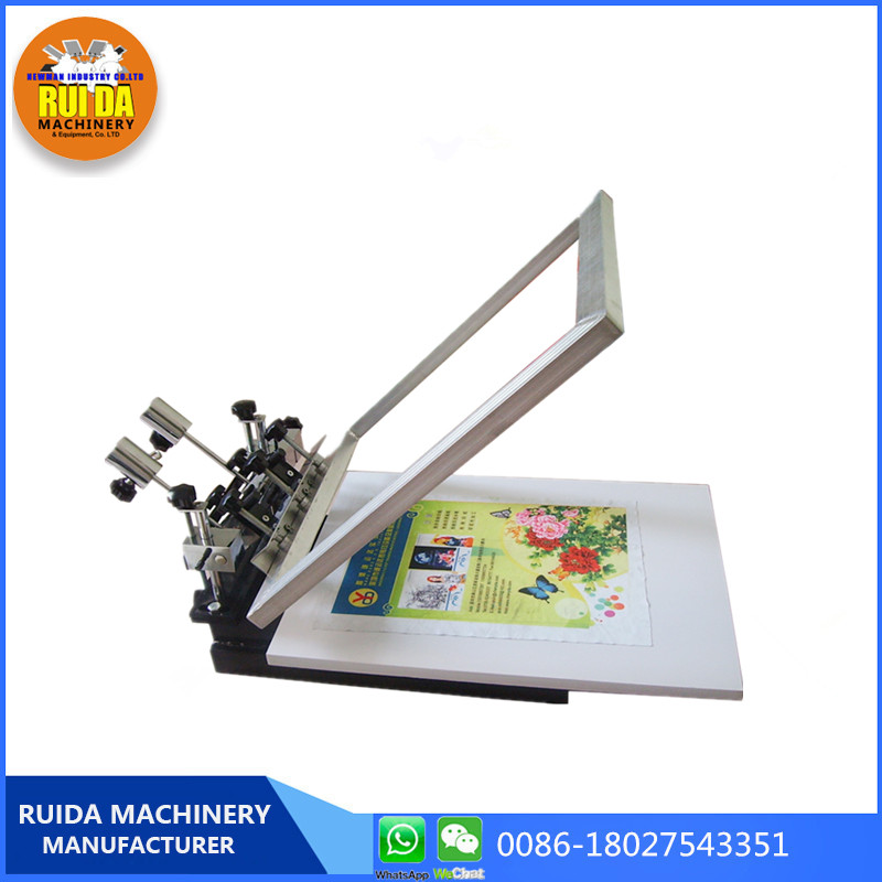 NS103 desktop1 Color 1 station Micro-Adjustable Screen Printing Machine paper leather glass flat surface