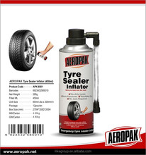 Efficient tyre sealer inflator for tyre puncture in emergency use with free sample