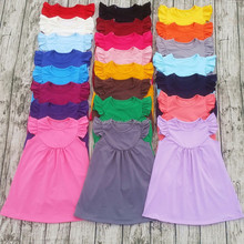 wholesale baby girl pearl dresses children flutter sleeve dress 2017 boutique girl clothing