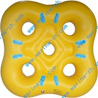customized plastic inflatable donut inflatable water toys for the lake with completed accessories