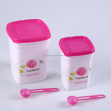 2pcs/set plastic canister with printing/PP candy canister/Cheap kitchen canister set