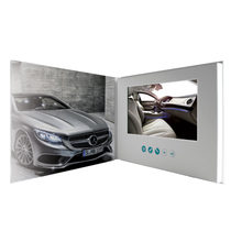 Cool fashion lcd vedio greeting cards/video brochure for promotion