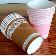 custom 3d paper coffee cups design for chrismas