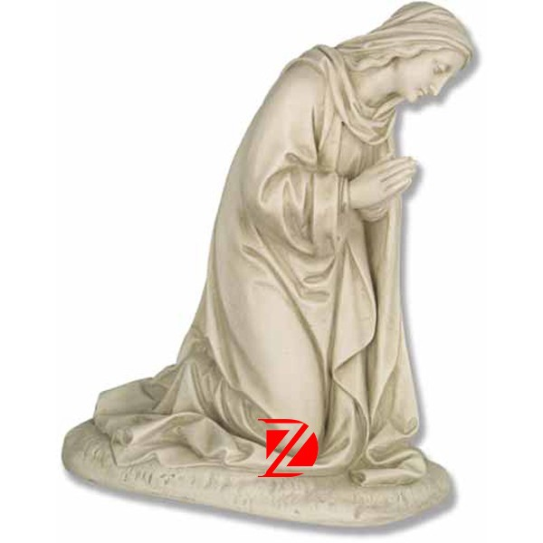 kneeling stone Mary praying statue for sale