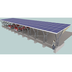 High Snow Wind Load Aluminum Mounted Solar PV Panel Carports