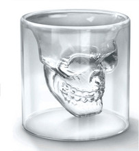 !!! skull wine glass is a unique type of beverage insulator for any special occasion!!! wholesale 75ml skull wine glass