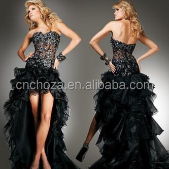 Z50437B Latest Fashion New Model Women's Short Front Long Back Evening Dress