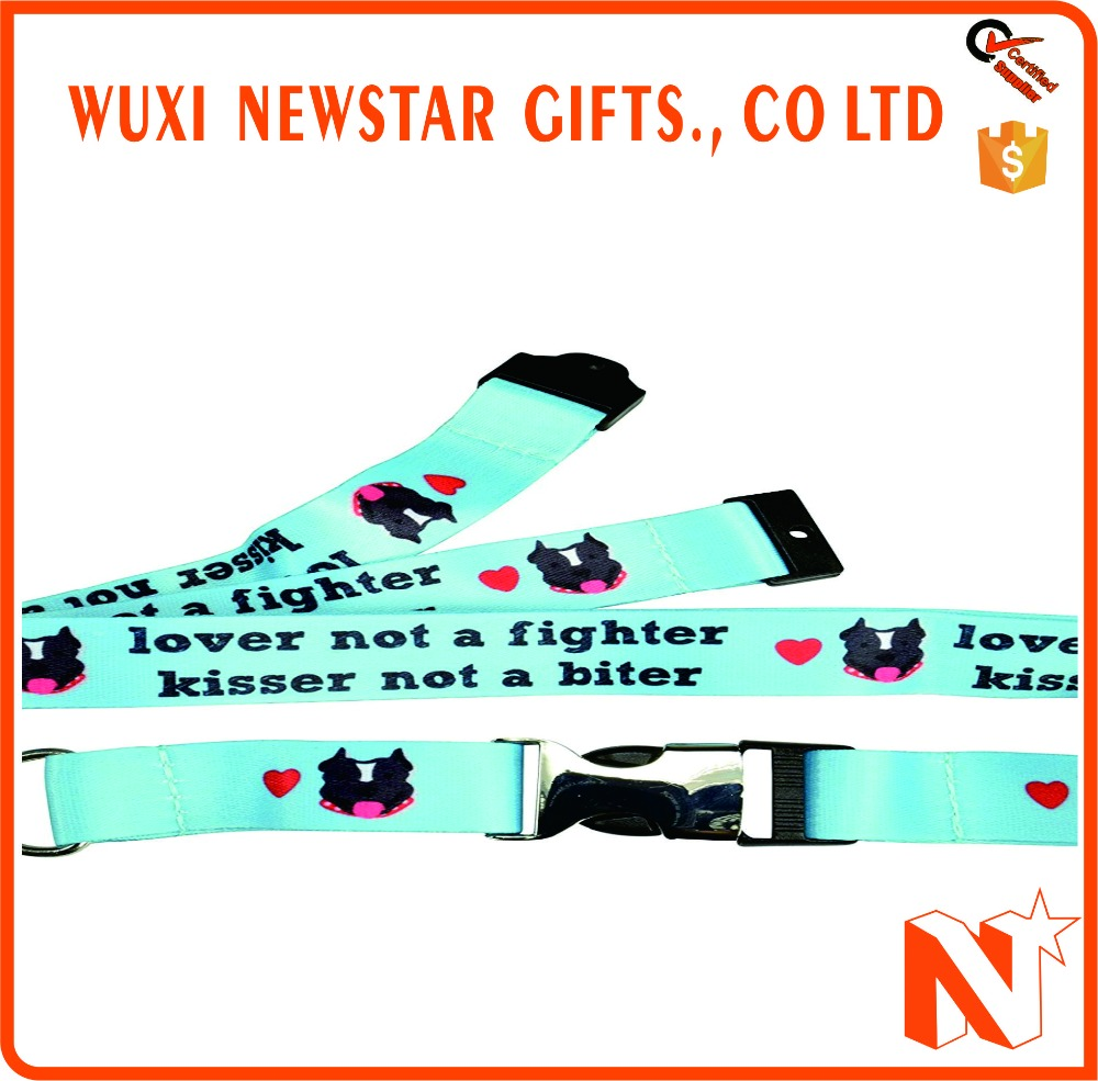 Customized Logo Design Promotional Wrist Strap Lanyard