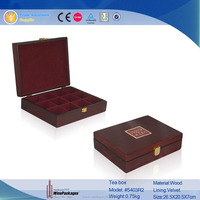 Chinese lacquered wooden small lattice tea box wholesale